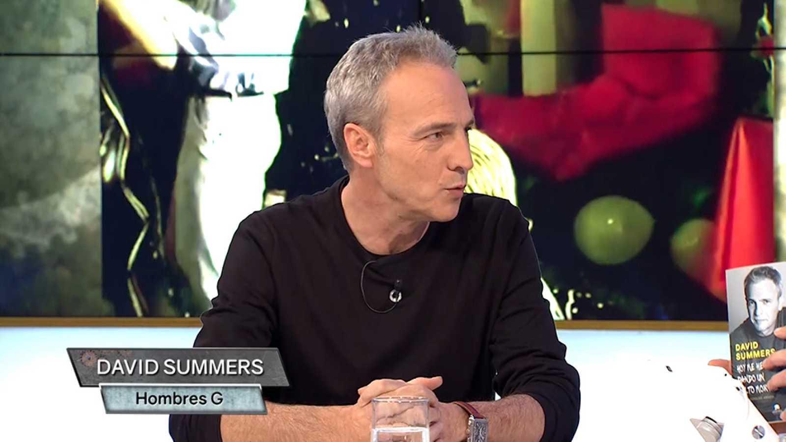 Nos visita David Summers, líder de 'Hombres G', que nos presenta su nuevo libro