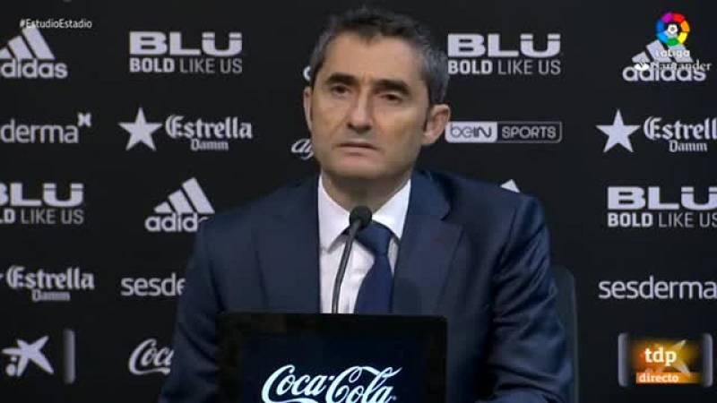 El entrenador del FC Barcelona ha quitado importancia al gol mal anulado de su equipo en Mestalla.