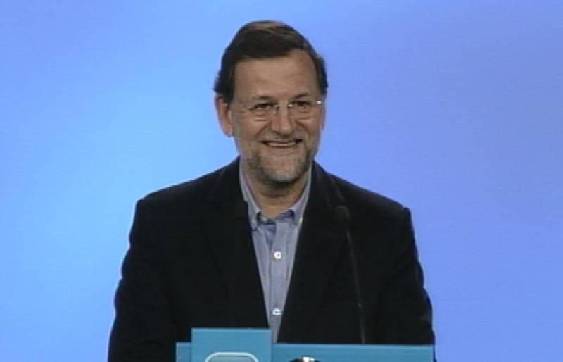 Mariano Rajoy ha analizado los resultados electorales desde la sede del partido en Madrid.