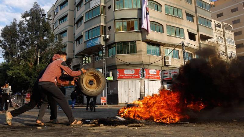 La tensión aumenta en Palestina en el primer día de huelga general contra la decisión de Trump sobre Jerusalén