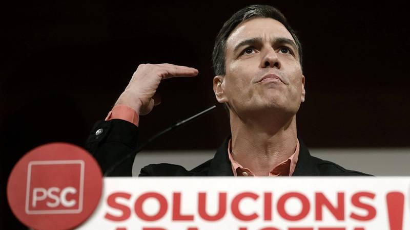 """Pedro Sánchez: """"El PSOE quiere una Cataluña mejor en una España diferente"""""""