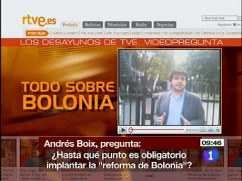 Cristina Garmendia habla sobre la implantación de Bolonia