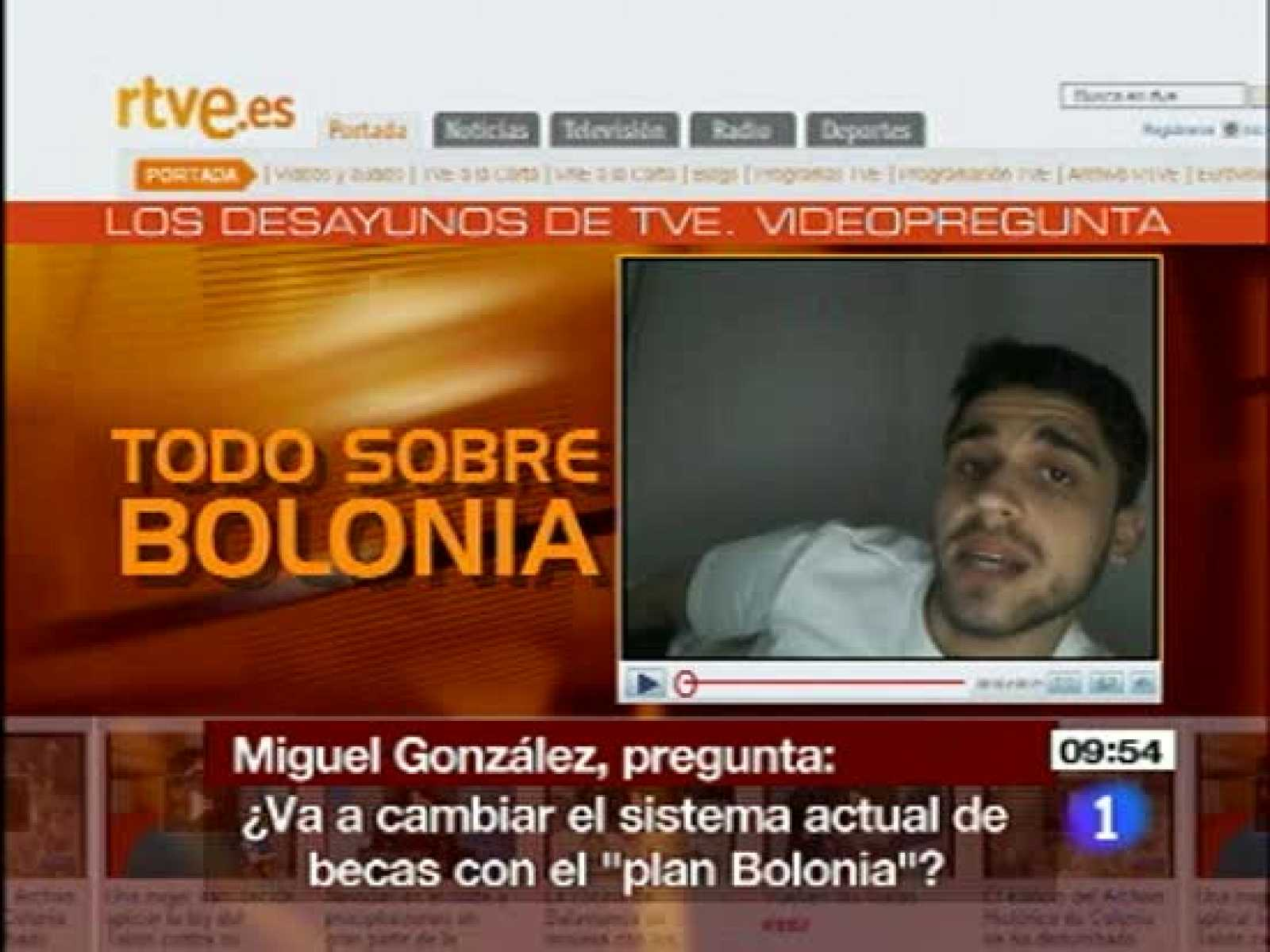 Cristina Garmendia habla sobre las becas tras el Proceso de Bolonia