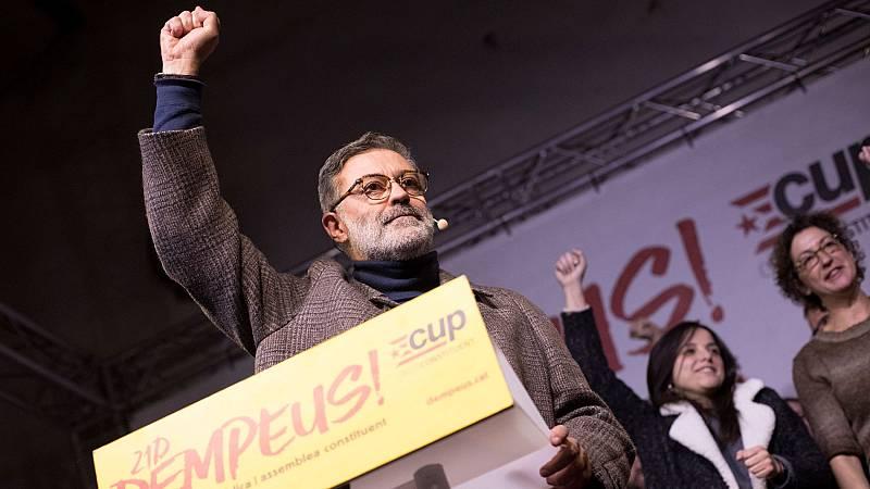 """Carles Riera (CUP) celebra una """"mayoría republicana y de izquierdas"""" tras el 21D"""