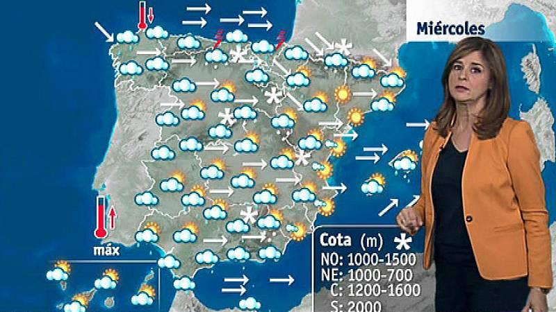 Vientos muy fuertes en el litoral y Baleares, y lluvias en casi todo el país