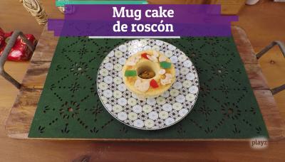 Receta: Mug cake de roscón de reyes