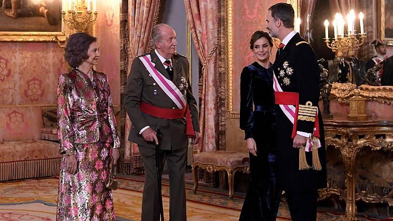 Juan Carlos I asiste a la Pascua Militar por primera vez desde su abdicación