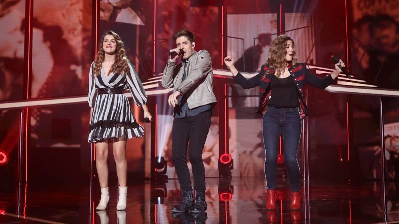Operación Triunfo - Roi, Miriam y Amaia cantan 'Robarte un beso' en la Gala 10 de OT