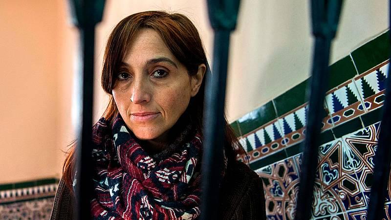 La activista española Helena Maleno, tranquila antes de comparecer en un juzgado de Marruecos