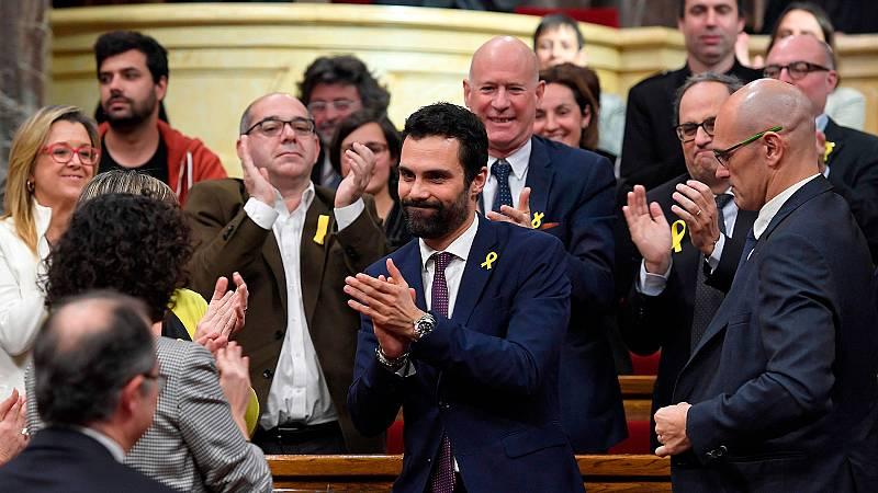 Roger Torrent, elegido nuevo presidente del Parlament