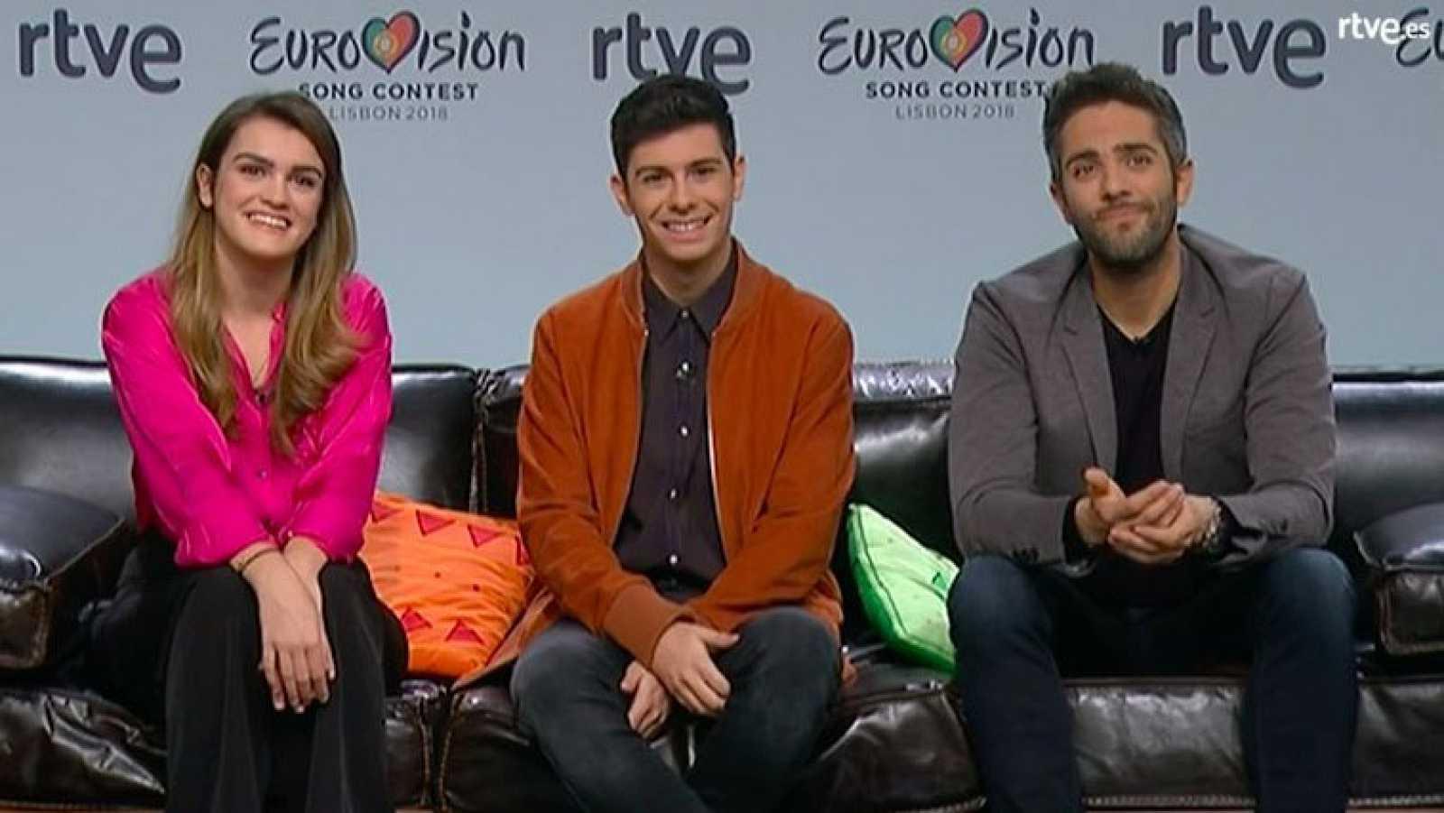 Primera rueda de prensa de Alfred y Amaia como representantes de España para Eurovisión