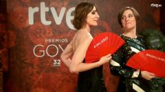 Goyas Golfos 2018 - Nathalie Poza y Carla Simón, en la cámara glamur