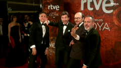 Goyas Golfos 2018 - Javier Gutiérrez, Santiago Segura, José Mota y Antonio de la Torre en la cámara glamur