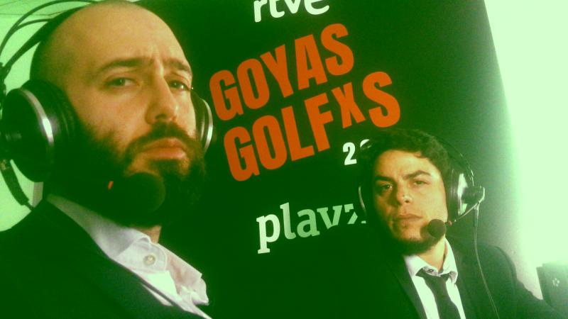 """La gala de los Goya 2018 comentada por David Sáinz y Enrique Lojo, los guionistas de la serie de Playz """"Mambo""""."""