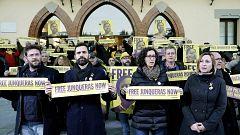 Concentración en el pueblo de Oriol Junqueras para pedir su liberación