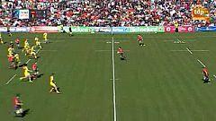 Ensayo de Sebastien Ascarat, España 10-0 Rumanía