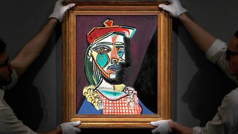 Sotheby's subasta 'Mujer con boina y vestido de cuadros', de Picasso