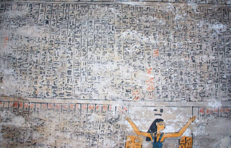 Arqueólogos españoles han descubierto una auténtica 'Capilla Sixtina' de 3.500 años de antigüedad en la tumba del escriba Djehuty, en Egipto.