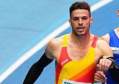 Husillos se mete en la final de los 400m con récord de España