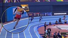 ¿Pisó aquí la línea Óscar Husillos en la final de 800?
