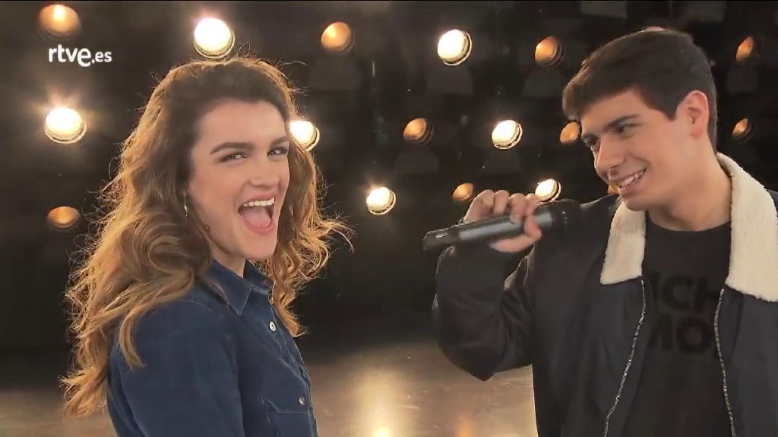 La puesta en escena de Amaia y Alfred para Eurovisión 2018