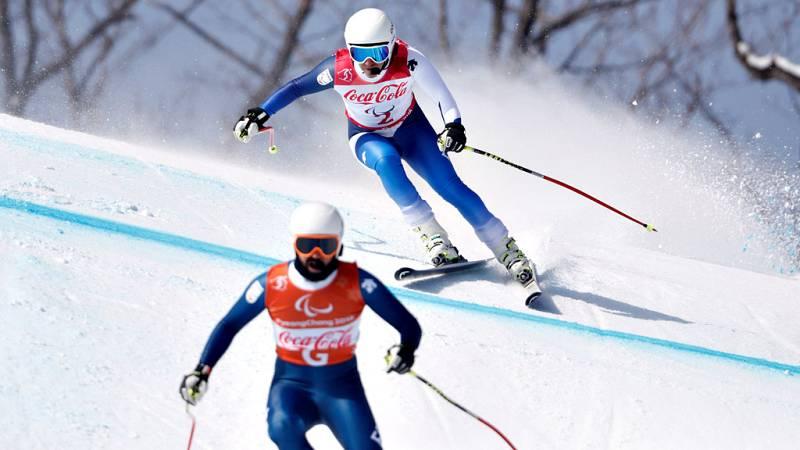 El esquiador español discapacitado visual Jon Santana y su guía  Miguel Galindo no pudieron subir al podio en su estreno en los Juegos  Paralímpicos de Pyeongchang 2018 y se tuvieron que conformar con un  óptimo cuarto puesto en la prueba de descenso