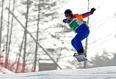 Astrid Fina, medalla de bronce en snowboard cross
