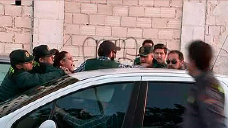 La Guardia Civil termina la reconstrucción del crimen de Gabriel en presencia de la detenida