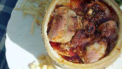 Las Rutas Capone - Solomillo de cerdo en Torta del Casar