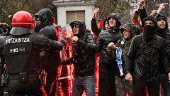 Dos vigilantes de seguridad de San Mamés, heridos por ultras marselleses