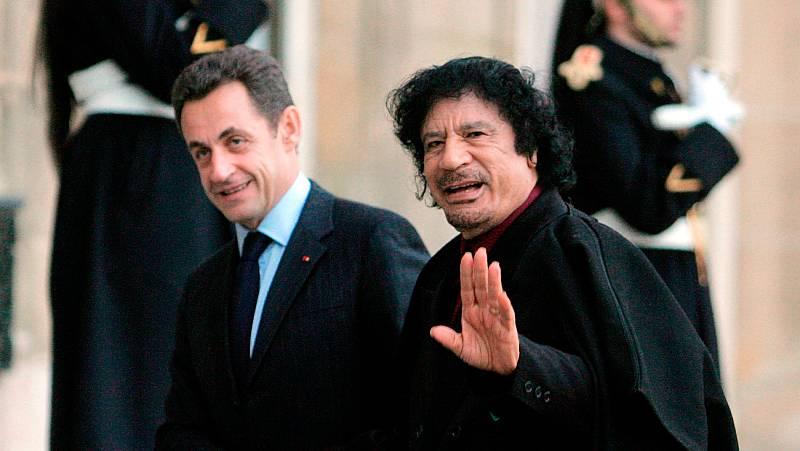 El expresidente francés Sarkozy declara bajo arresto si recibió dinero de Gadafi para su campaña de 2007