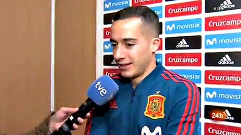El jugador del Real Madrid y de la selección española de fúbol, Lucas Vázquez, ha analizado en una entrevista en exclusiva para TVE tanto la actualidad de la Roja como la de su club y el protagonismo que ha ganado en estos últimos dos meses, donde se