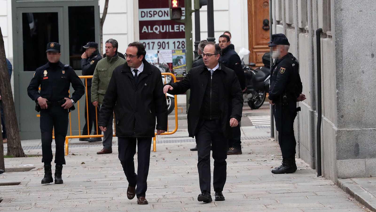 El juez procesa a 13 investigados por rebelión, incluidos Puigdemont, Turull, Junqueras y Rovira