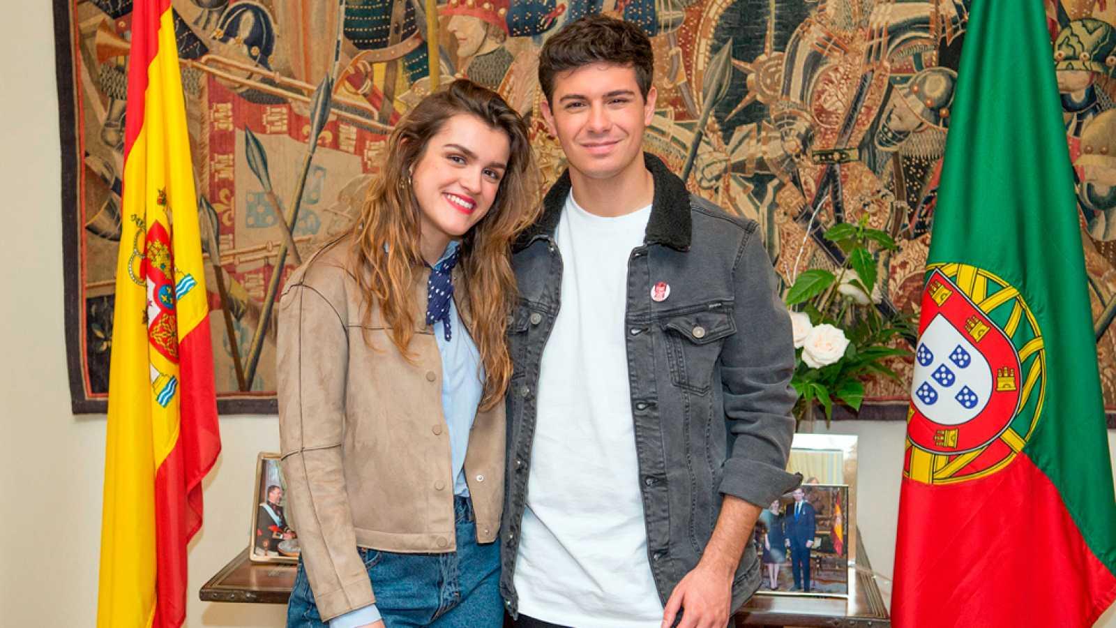 Amaia y Alfred, recibidos por el embajador de Portugal en España