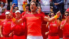 Copa Davis: España - Alemania. Exhibición de Nadal para empatar la eliminatoria