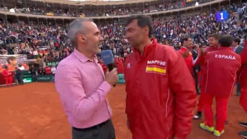 El capitán de Copa Davis español ha puesto en valor el gen competitivo del tenista de Xavia que ha acabado por decantar la eliminatoria ante Alemania.