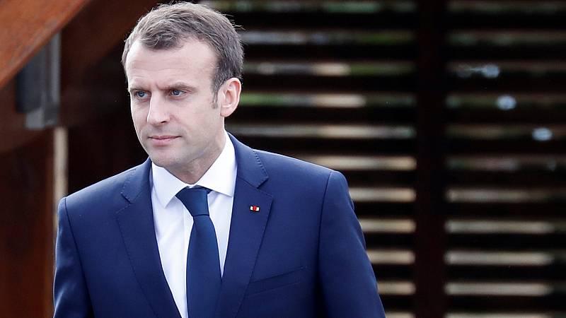 Macron dice tener pruebas del uso de armas químicas del régimen sirio en Duma