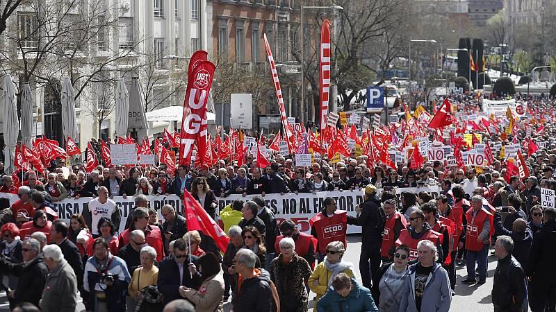 Miles de personas vuelven a salir a la calle en toda España para reclamar pensiones dignas