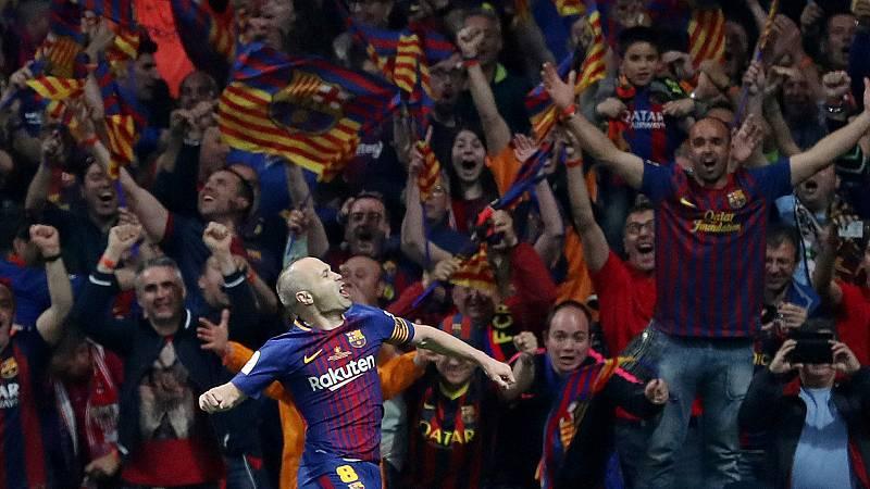La victoria del Barça en la final de Copa fue inapelable, con una goleada por 0-5 marcada por el gran partido de Andrés Iniesta.