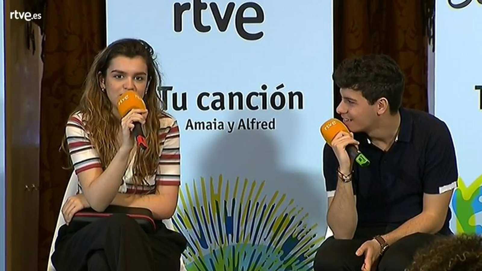 Eurovisión 2018 - Amaia se llevará a Lisboa el libro que Alfred le regaló