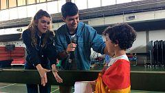 Eurovisión 2018 - Amaia y Alfred visitan un colegio español en Portugal