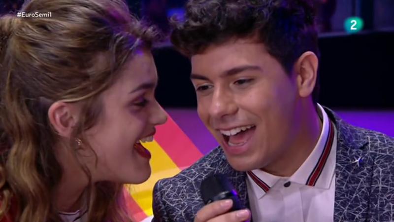 """Eurovisión - Amaia y Alfred tararean """"Tu canción"""" en la primera semifinal de Eurovisión 2018"""