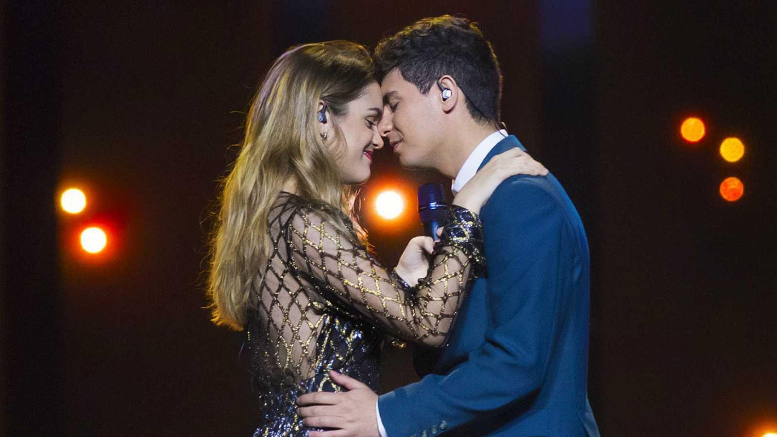 Eurovisión 2018 - Actuación de Amaia y Alfred en la primera semifinal de Eurovisión 2018