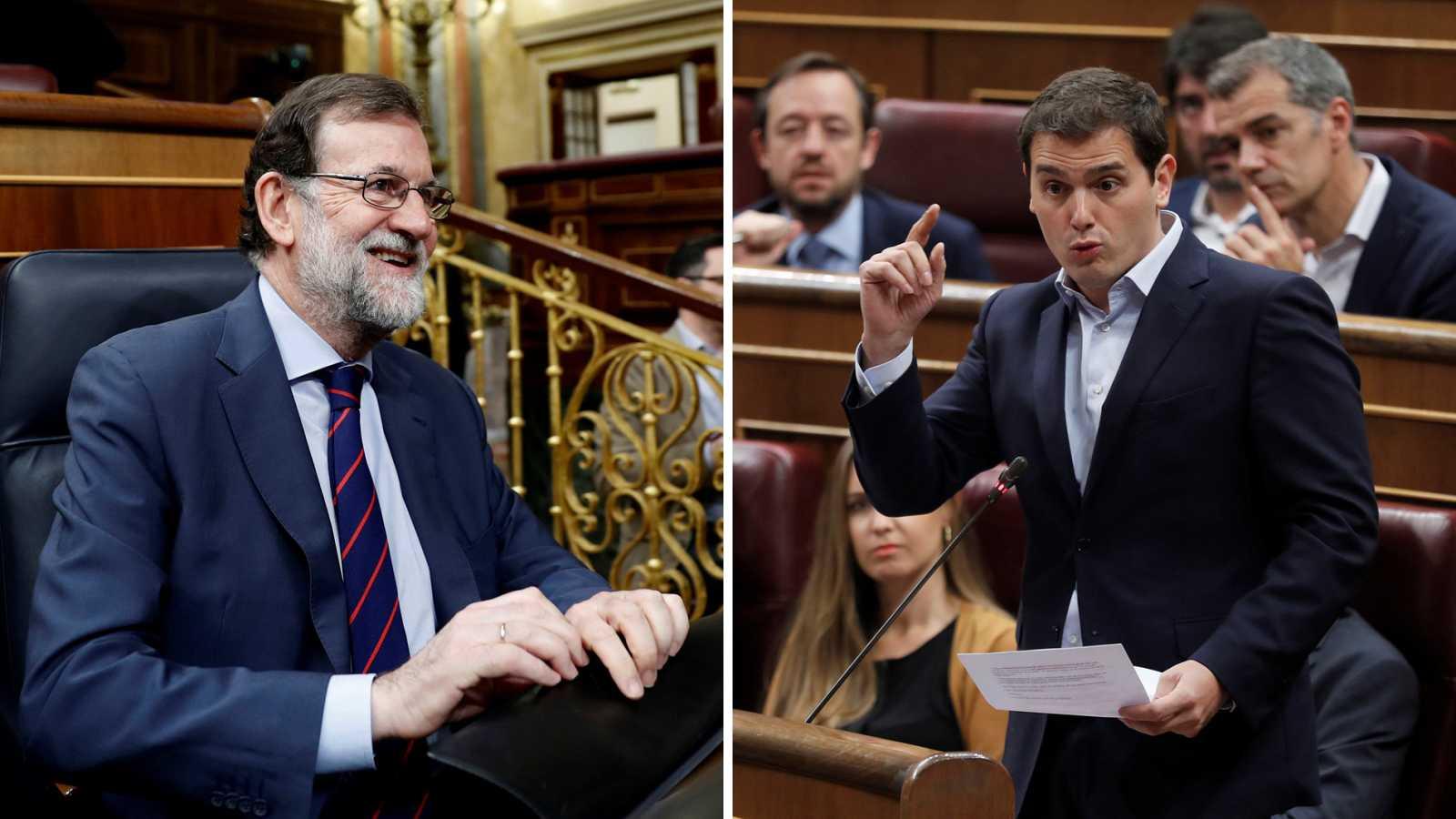 Rivera pide que recurra el voto delegado de Puigdemont a Rajoy, que lo descarta alegando que no puede hacerlo