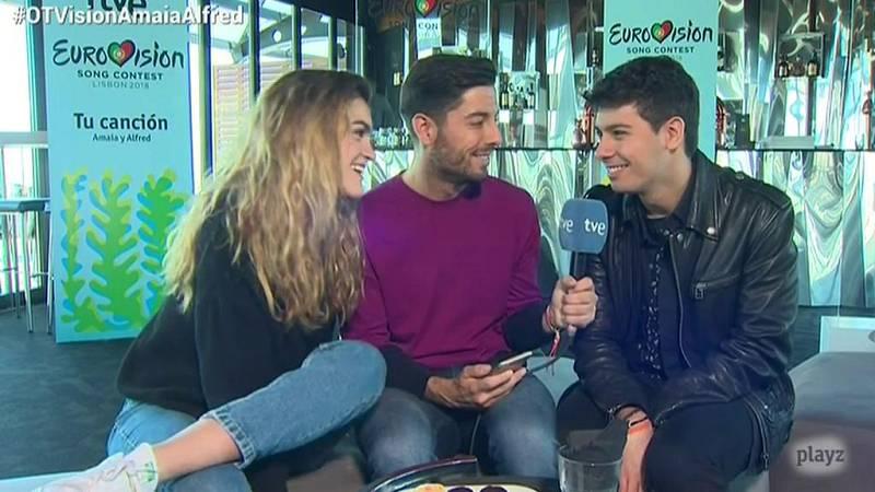 """Eurovisión 2018 - Amaia y Alfred confiesan que se besaron antes de """"City of stars"""""""