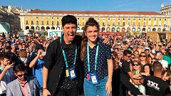España Directo - Amaia y Alfred, con los eurofans en Eurovisión 2018