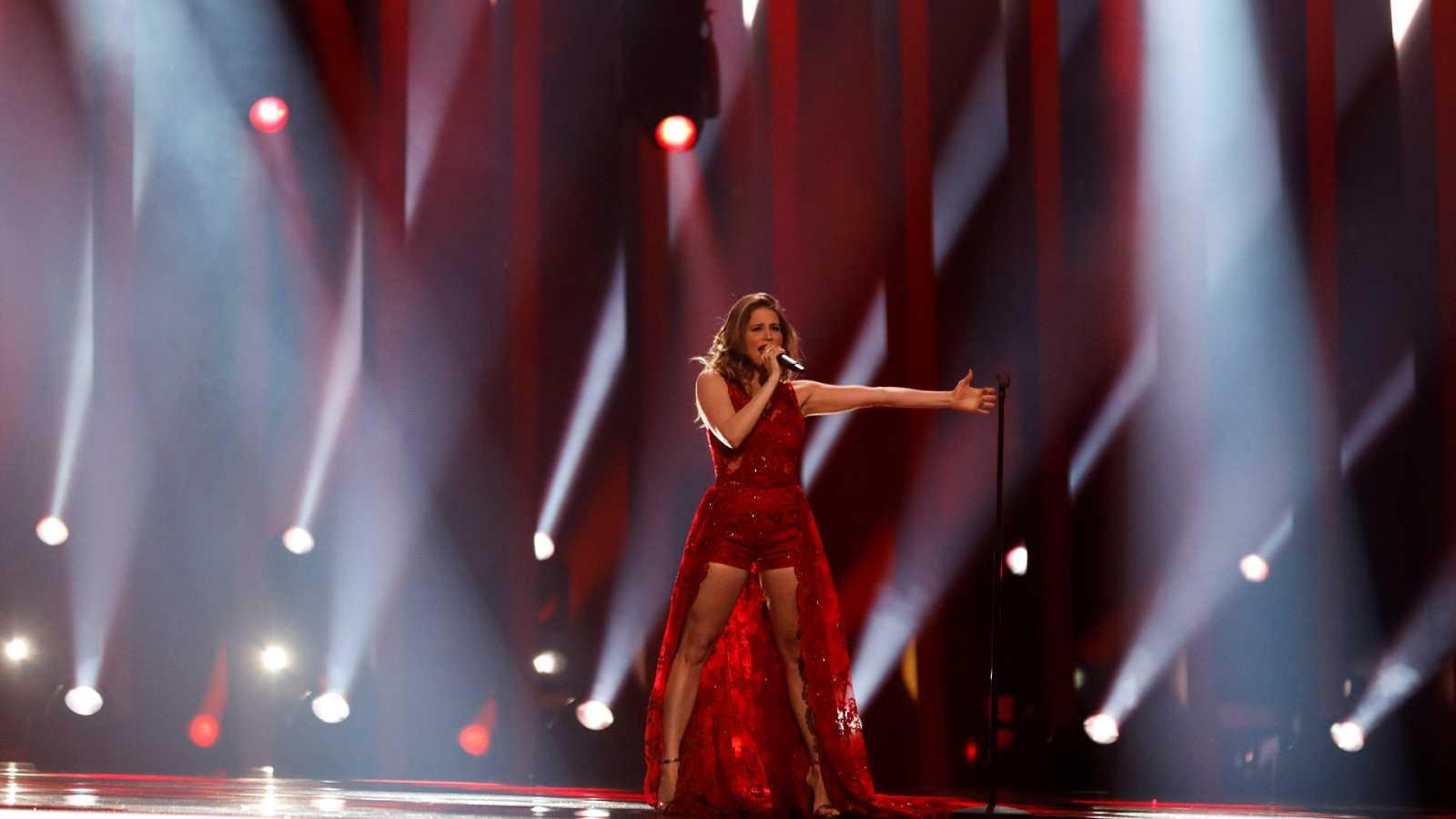 """Eurovisión - Letonia: Laura Rizzoto canta """"Funny girl"""" en la segunda semifinal de Eurovisión 2018"""