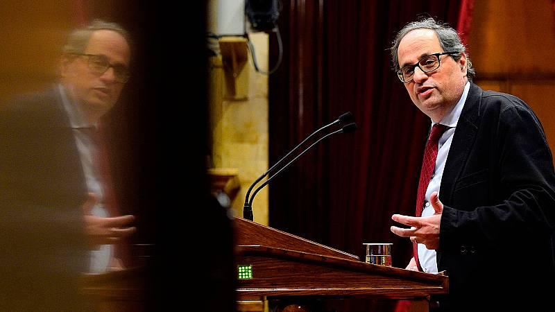 Quim Torra, un independentista fiel a Puigdemont sin carné de partido