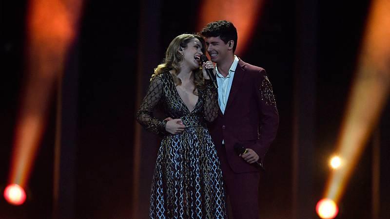 """Eurovisión - España: Amaia y Alfred cantan """"Tu canción"""" en la final de Eurovisión 2018"""