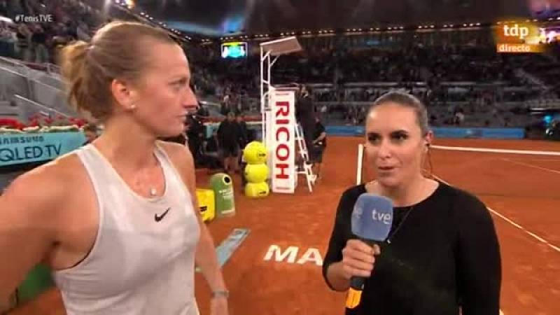 """La checa Petra Kvitova, triple ganadora del Mutua Madrid Open, señaló tras vencer a la holandesa Kiki Bertens en la final que """"siempre es increíble ganar un torneo como este""""."""